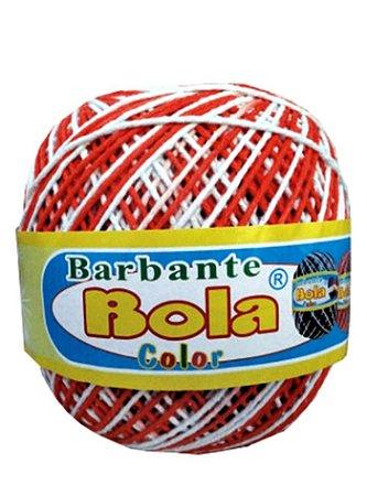 Barbante 350m Bola Color Laranja/Branco