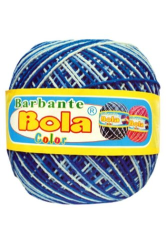Barbante 350m Bola Color Royal/Azul Bebê