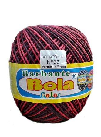 Barbante 350m Bola Color Vermelho/Preto