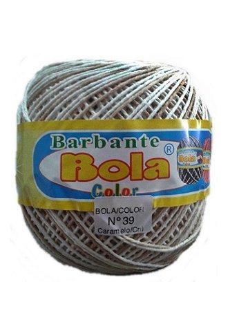 Barbante 350m Bola Color Caramelo/Cru