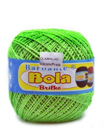 Barbante 350m Bola Color Brilho Abacate/Prata