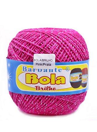 Barbante 350m Bola Color Brilho Pink/Prata