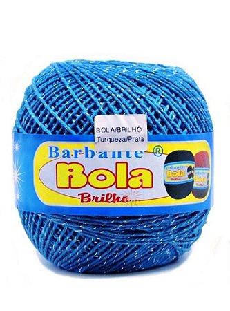 Barbante 350m Bola Color Brilho Turquesa/Prata