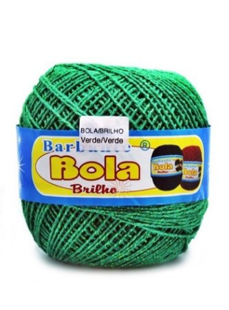 Barbante 350m Bola Color Brilho Verde/Verde