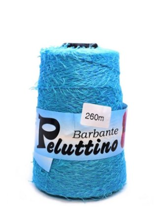 Barbante Felpudo Peluttino Numero 6 Azul Turquesa