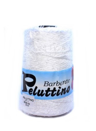 Barbante Felpudo Peluttino Numero 6 Branco