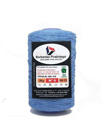 Barbante 2Kg Número 6 Azul Índigo