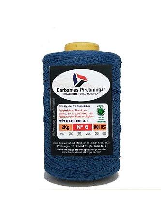 Barbante 2Kg Número 6 Azul Petróleo