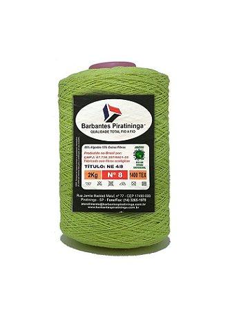 Barbante 2Kg Número 8 Verde Fluorescente