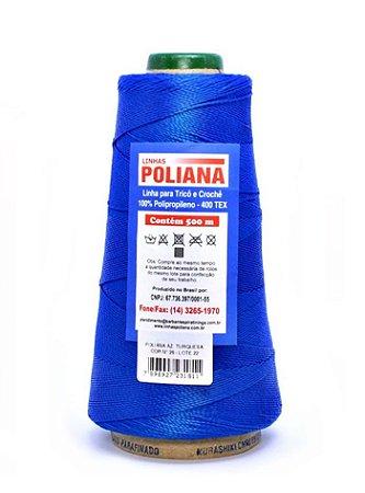 Linha Poliana 500m - Azul Turquesa