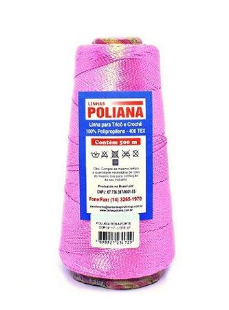 Linha Poliana 500m - Rosa Forte