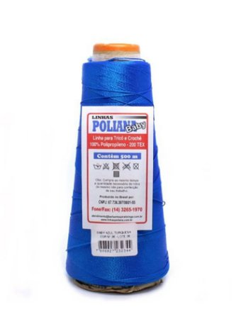 Linha Poliana Baby 500m - Azul Turquesa