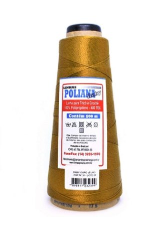 Linha Poliana Baby 500m - Ouro Velho
