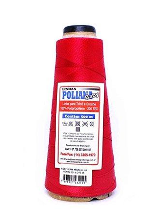 Linha Poliana Baby 500m - Vermelho Maravilha