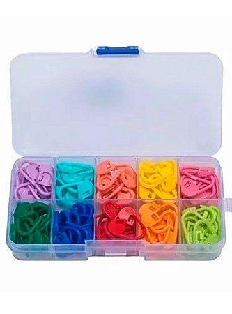 Kit caixa de marcadores de ponto para Crochê e Tricô 110 unidades
