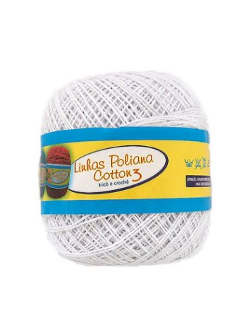 Linha Poliana Cotton 350m - Branco