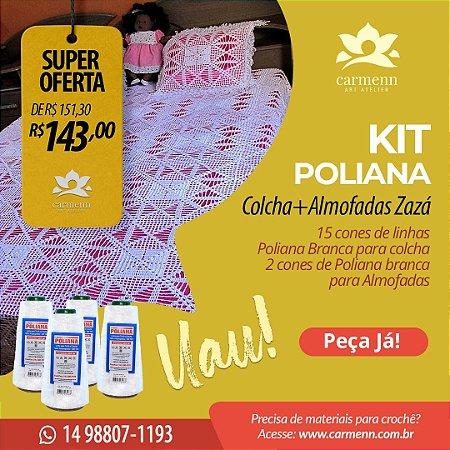 Kit para Colcha e Almofada em crochê Isabela da Zazá da Silva