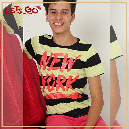 0bb9c4fba2 Camiseta Boca Grande Listrada Abacate e Preta New York 56494 ...