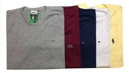 Kit 05 Camiseta Basica Masculina Gola Careca - Promoção - Loja ... 9d16be4eeca3c