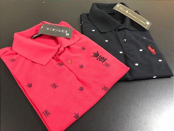 Kit 05 Camisas Polos Masculinas Premium Luxo - Promoção - Loja ... 78de9b24d5502