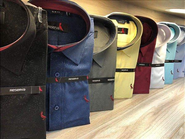 Kit 02 Camisa Social Masculina Premium Luxo Importada - Atacado - R  124,95 e789e6024d
