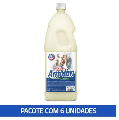 Lava Roupas Líquido Coco Amolim 2l Pacote C/6 Unid.