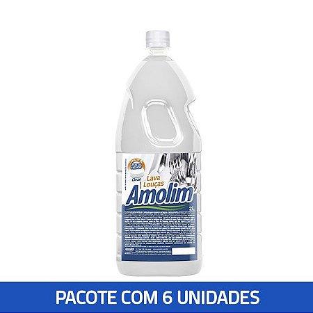 Lava Louças Clean Amolim 2lts Pacote C/6unid