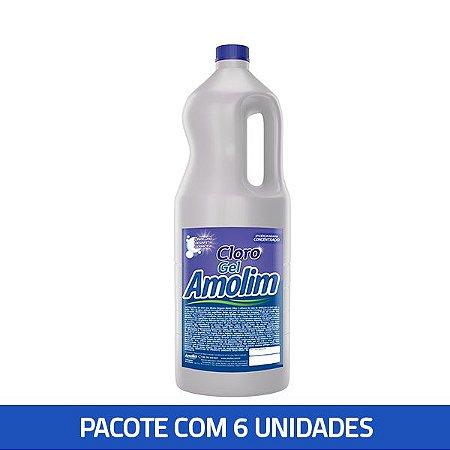 Cloro Gel Amolim 2lts Pacote C/6unid