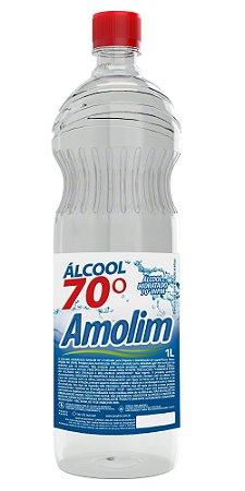 Álcool Líquido 70º 1l Caixa C/12 Unid.