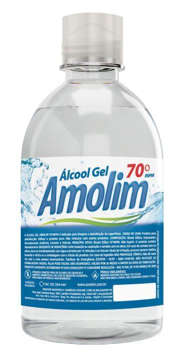 Álcool Gel 70º 500ml Caixa C/12 Unid.