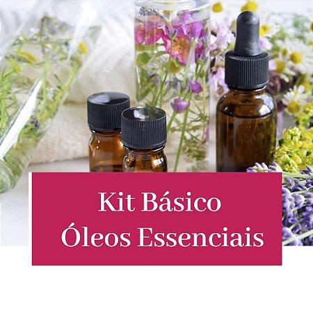 Kit Básico de Óleos Essenciais + Manual Técnico Grátis