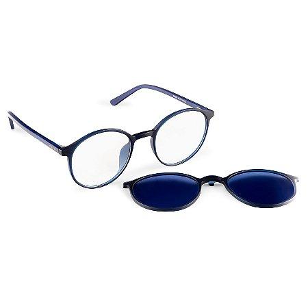 Armação para óculos de grau clip on - Moreré - Azul
