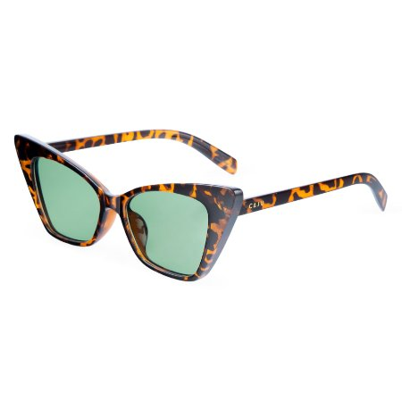 Óculos de sol gatinho - Onça Pintada - Tartaruga/verde