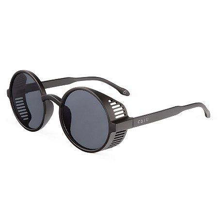 Óculos de sol redondo - Mico-leão-dourado - Preto