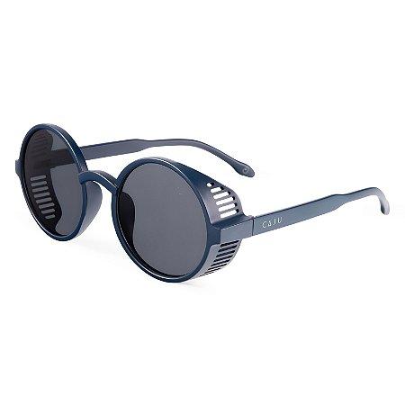 Óculos de sol redondo - Mico-leão-dourado - Azul