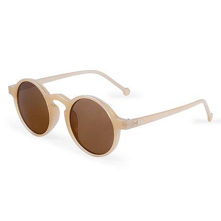 Óculos de sol redondo - Uacari - Nude