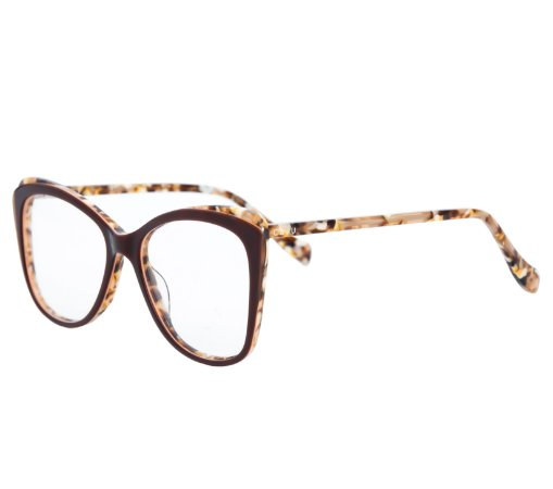 Armação para óculos de grau gatinho - Boto - Marrom Rajado