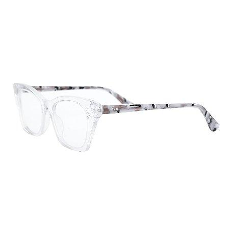 Armação para óculos de grau gatinho - Carcará - Transparente