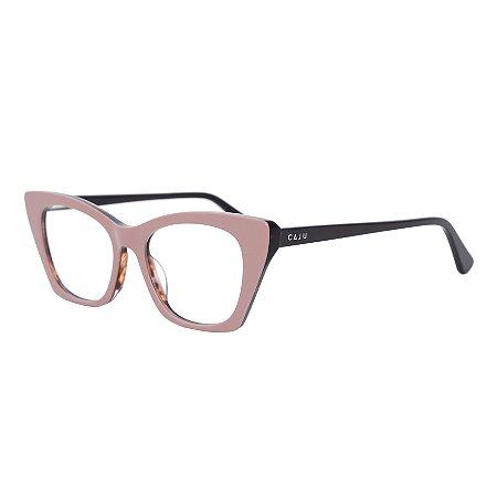 Armação para óculos de grau gatinho - Carcará - Nude/Marrom