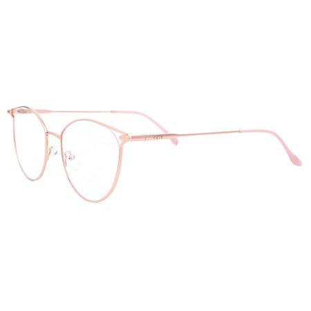 Armação para óculos de grau gatinho - Andorinha - Rosa