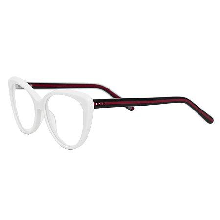 Armação para óculos de grau gatinho - Arara - Branco