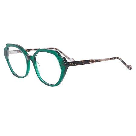 Armação para óculos de grau hexagonal - Vitória-Régia - Verde