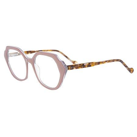 Armação para óculos de grau hexagonal - Vitória-Régia - Nude