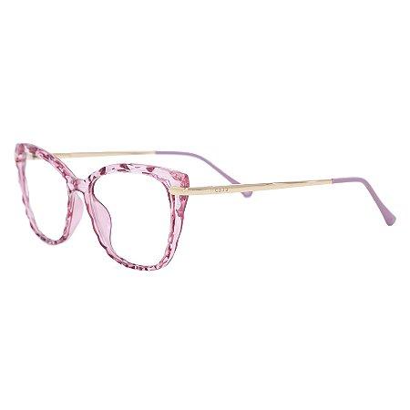 Armação para óculos de grau gatinho - Queijadinha - Rosa cristal