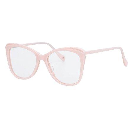 Armação para óculos de grau gatinho - Boto - Rosa