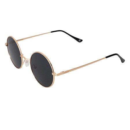 Óculos de sol redondo - Ovelha negra - Dourado/Preto