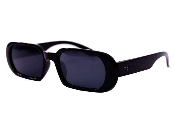 Óculos de sol retrô retangular - Gabiroba - Preto