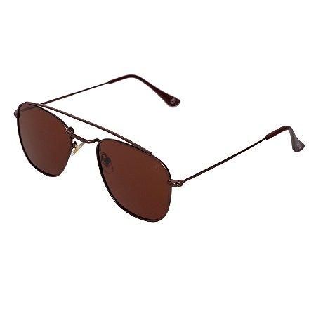 Óculos de sol aviador - Forró - Marrom