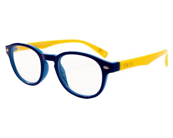 Óculos de sol grau - Bolinha de gude - Azul