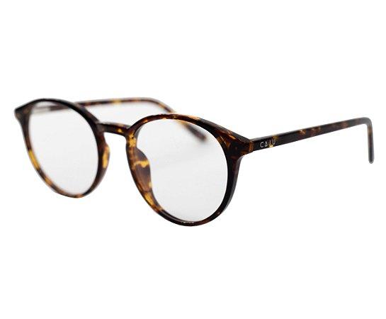 Armação para óculos de grau redondo - Abiu - Tartaruga